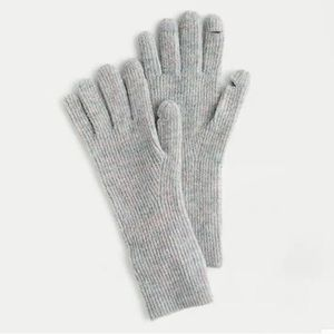 NEW J. Crew Blue Ribbed Texting Gloves